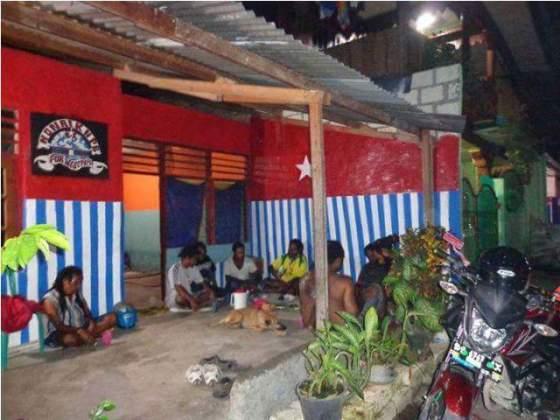 Foto Kantor KNPB Sentani Sebelum Hapus Motif Bendera Bintang Kejora